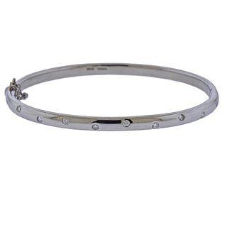 Tiffany & Co Etoile Platinum Diamond Bangle Bracelet