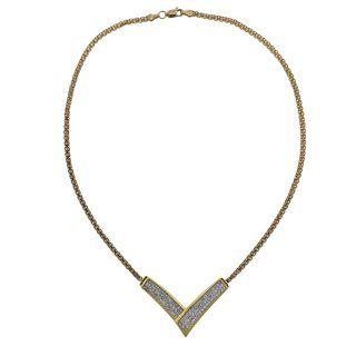 18k Gold Invisible Set Diamond Necklace