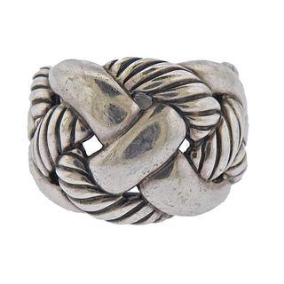 Vintage David Yurman Sterling Silver Wide Braid Band Ring
