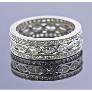 Art Deco Platinum Eternity Band Ring