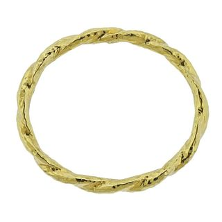 Ippolita 18k Gold Twist Bangle Bracelet