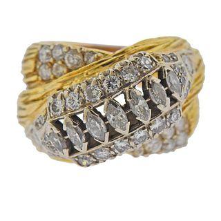 18k Gold Diamond Ring
