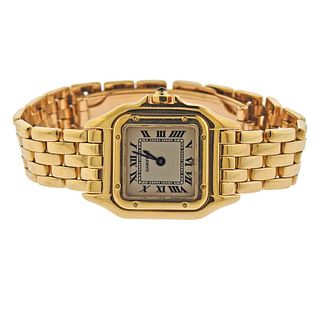 Cartier 18k Yellow Gold Panthere Quartz Ladies Watch