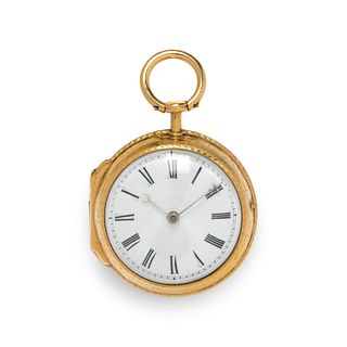 NATHAN MULLENS, GOLD-FILLED OPEN FACE POCKET WATCH