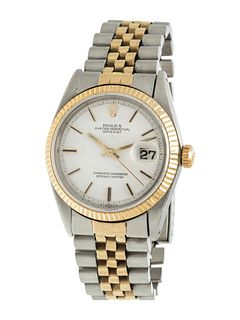 ROLEX, STAINLESS STEEL AND YELLOW GOLD REF. 1601 'OYSTER PERPETUAL DATEJUST' WRISTWATCH, CIRCA 1968