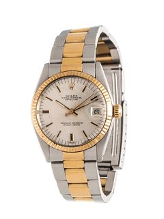 ROLEX, STAINLESS STEEL AND YELLOW GOLD REF. 6827 'OYSTER PERPETUAL DATEJUST' WRISTWATCH, CIRCA 1979