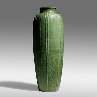 Ruth Erickson for Grueby Faience Company, Exceptional floor vase