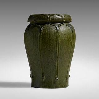 George P. Kendrick for Grueby Faience Company, Rare vase, model 84