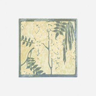 Adelaide Robineau, Rare wisteria tile