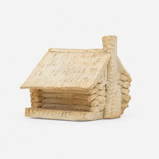 George E. Ohr, Log Cabin novelty inkwell