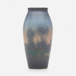 Edward T. Hurley for Rookwood Pottery, Scenic Vellum vase
