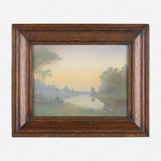 Lenore Asbury for Rookwood Pottery, Scenic Vellum plaque