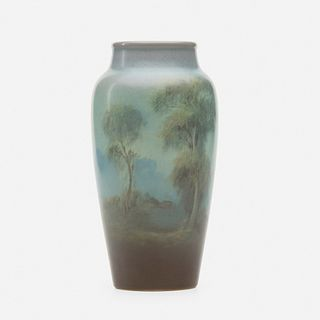 Fred Rothenbusch for Rookwood Pottery, Scenic Vellum vase