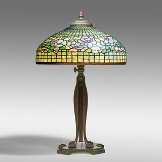 Tiffany Studios, Dogwood Band table lamp