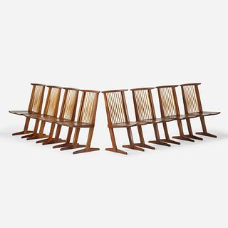 George Nakashima, Conoid chairs, set of eight