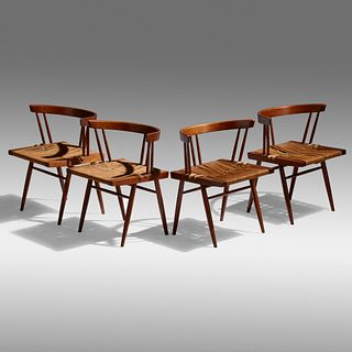 George Nakashima, Grass-Seated chairs, set of four