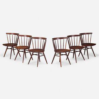George Nakashima, Straight-Back chairs, set of six