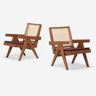 Pierre Jeanneret, Lounge chairs from the Punjab Engineering College, Chandigarh, pair