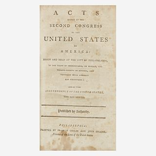 [Americana] Acts Passed at the Second Congress of the United States of America: Begun and Held at the City of Philadelphia...