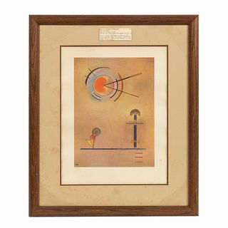 WASSILY KANDINSKY, ABSTRACT LITHOGRAPH, FRAMED