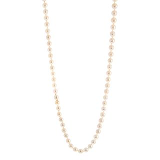 A Long Strand of 8-9 mm Cultured Pearls