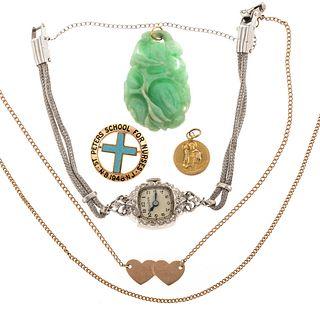 An Vintage 14K Bulova Diamond Wrist Watch & Others