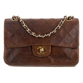 A Vintage Chanel Classic Small Double Flap Bag