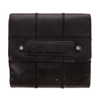 A Chanel Small Bifold Flap Wallet