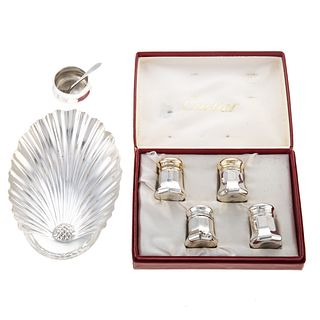 Collection Cartier & Tiffany Sterling Table Items