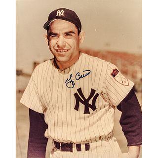 YOGI BERRA (1925 - 2015) Legendary Hall of Fame Baseball Player 2-Signed Photo