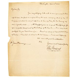 ELIAS BOUDINOT Ex-Continental Congress President Writes to a Noted Doctor Friend
