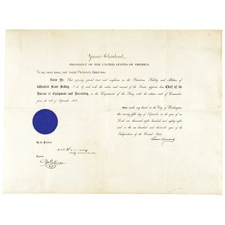 GROVER CLEVELAND Appoints Winfield S Schley the Future Spanish-American War Hero