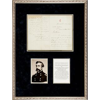 Civil War General JOSHUA LAWRENCE CHAMBERLAIN Autograph Letter Signed in Display