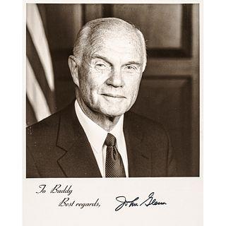 JOHN HERSCHEL GLENN JR (1921-2016). 1998-Dated signed photo.