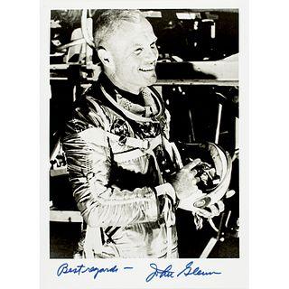 JOHN HERSCHEL GLENN Historic Mercury 7 Signed Photo - Best regards - John Glenn