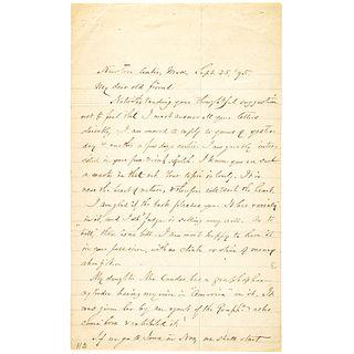 SAMUEL FRANCIS SMITH Great Content - Autograph Letter Signed Regarding AMERICA