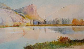 ALFRED FEYEN PERRIN, Watercolor Landscape
