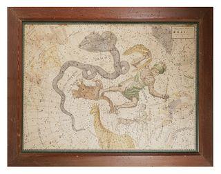JOHANN BODE Uranographia Star Atlas Plate 3, 1801