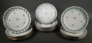 (17) Herend Persil Fine China Plates and Bowls