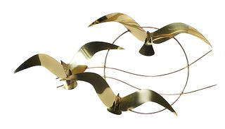 CURTIS JERE, Seagull Wall Sculpture, Signed