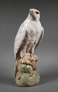 Large Royal Copenhagen Icelandic Falcon Statue