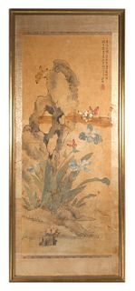 Chinese Scroll Painting, Butterflies