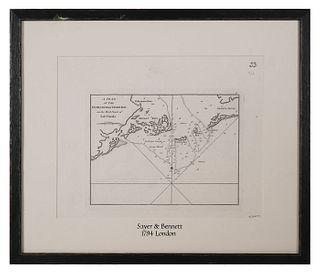 SAYER & BENNETT, Map of Tampa Bay, 1794