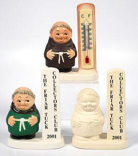(3) Goebel Friar Tuck Collectors Club Monk Plaque