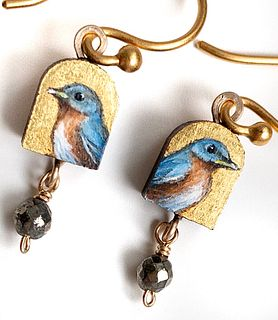 Tiny Bluebird Earrings