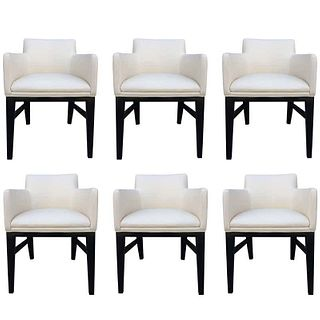 Set of 6 Arm Chairs in the style of Edward Wormley