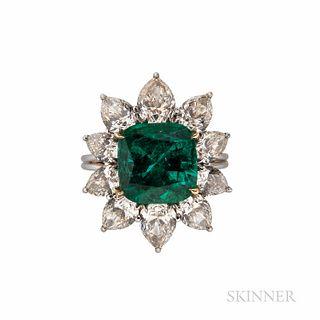 Fine Harry Winston Emerald and Diamond Ring