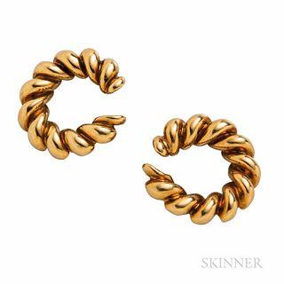 Cartier 18kt Gold Hoop Earclips