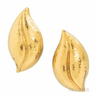 Tiffany & Co. Paloma Picasso 18kt Gold Earclips