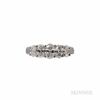 JB Star Platinum and Diamond Ring